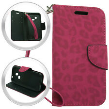 Pink Leopard Wallet Purse+Hard Case For LG Sunrise L15G Lucky L16C Phone