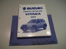 +2004 SUZUKI VITARA PARTS CATALOG