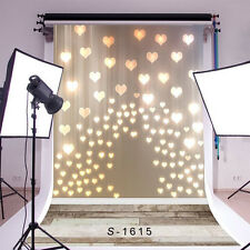 3x5ft Vinyl Photography Backgrounds Love Heart Light Shadow Baby Photo Backdrops