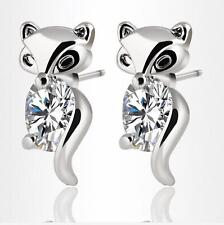 New 925 Sterling silver Zircon stud Fox earrings exquisite fashion jewelry Gifts