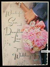 Luxury Wedding Day Card To A Son And Daughter In Law ~ Very Best Quality ~ Verse