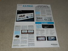 Kenwood KA-5500 Amplfiier Brochure, 4 pages, Specs, Articles, Very rare!
