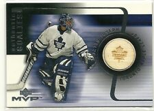 2001-02 Upper Deck MVP Goalie Sticks Curtis Joseph Game Used Stick Card Toronto