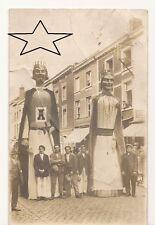 CPA ORIGINALE +/- 1930 - BRAINE-LE-COMTE - Les Géants - Carte/photo - 2 photos