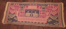 large Antique Tampan hand woven ceremonial ship cloth Lampung Sumatra Indonesia