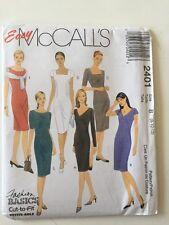 McCall's 2401 OOP Misses Dresses Sewing Pattern Sz 8-10-12 Uncut Fashion Basics