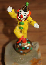 Ron Lee Nicky Standing on Ball Signed 1982 Onyx-24K-Gold. Collectible figurine.