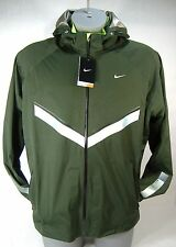"New Mens XL NIKE ""Vapor WR"" Forest Green Premium Running Hoody Jacket $300"
