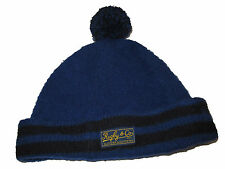 Rugby Ralph Lauren Polo Royal Blue Black Wool Beanie Pom Pom Stocking Hat Cap