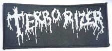 "Terrorizer ""Logo"" Woven Patch - OFFICIAL world downfall hordes of zombies"