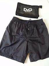 Dolce Gabbana Men swim trunks shorts dark blue stripes 48 IT 32 US S NEW
