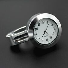 "Universal 7/8"" - 1"" Motorcycle Accessory Handlebar Mount Chrome Watch Dial Clock"