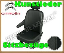 Kunstleder Sitzbezüge Citroen Jumpy, Peugeot Expert - Schwarz - für Fahrersitz
