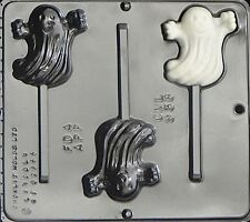 Happy Ghost Lollipop Chocolate Candy Mold  938 NEW