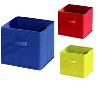 SQUARE COLLAPSIBLE CANVAS STORAGE BOX FOLDABLE KIDS TOYS CLOTHES BEDROOM OFFICE