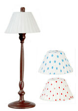 Brown High Lamp Comes With Three Shades, Dollhouse Miniatures, 1/12 Scale