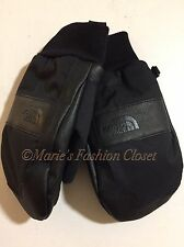 """Sz Large L - Youth/Jr North Face """"Work"""" Waterproof Insulated Ski Mittens Black"""