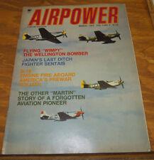 March 1975 Issue AIR POWER MAGAZINE/Wellington Bomber/Kawasaki Tony/James Martin