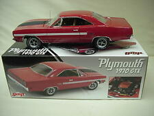 GTX  TOR RED 426 HEMI  V-8  1970 AIR GRABBER HOOD NEW  PLYMOUTH GMP 1-18 dtd