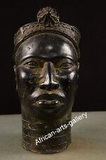 976 Bronze Alter Aufsatzkopf der Oduduwa Nigeria  Afrika