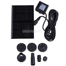 New 7V 1.12W Solar Water Panel Kit Fountain Pump for Pond Fish Tank GY-D-001-NS