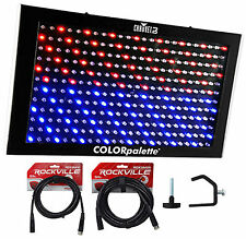 Chauvet DJ ColorPalette Panel Stage Wash Light+DMX Cables+Clamps Color Palette