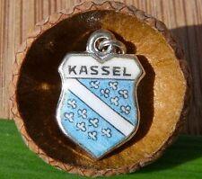 VINTAGE 835 SILVER enamel KASSEL Germany shield CHARM (C-262)