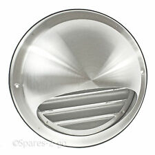 Stainless Steel Wall Air Vent Round Metal Insect Grille Ventilation 125mm 5""
