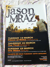 JASON MRAZ AUSTRALIAN TOUR MARCH 200? POSTER MINT