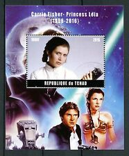 Chad 2016 CTO Carrie Fisher Princesa Leia Star Wars 1v m/s han SOLO SELLOS