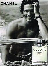 Publicité advertising 2007 Eau de Cologne Allure Chanel pour Homme