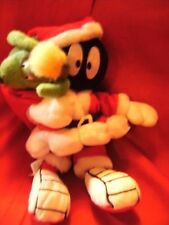 MARVIN THE MARTIAN & K-9 GREEN DOG FATHER CHRISTMAS SOFT TOY WARNER BROTHERs