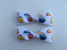 Big Bird Elmo Cookie Monster Hair Bows with Alligator Clips