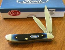 CASE XX New Blue Sawcut Bone Handle 2 Blade Ford Peanut Knife/Knives