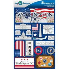 REMINISCE JET SETTERS WASHINGTON DC TRAVEL VACATION 3D SCRAPBOOK STICKERS