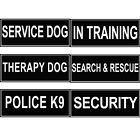 Extra Velcro Patch Reflective Label Tag for Dog Harness Service Therapy Training