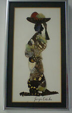 African Artist Butterfly Painting - Handcrafted Collage made from butteflies
