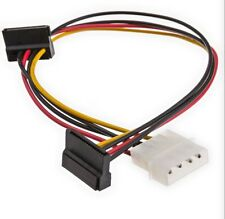30inch 4pin MOLEX Male to (2) 15pin SATA II Female Power Cable