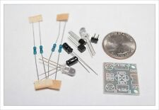 DIY Electronic Kit - 2pc Multivibrator circuit oscillator bright LED flasher