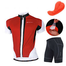 Mens Bicycle Jersey Bike Clothing Padded Shorts Cycling Wear Uniforms Size M-XXL