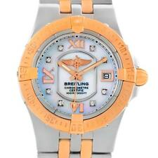 Breitling Galactic 30 Starliner Ladies Steel Gold Diamond Watch C71340