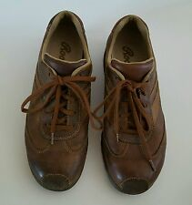 Roots Men's Shoes Size 8.5 Leather Upper Brown Casual Athletic Lace Up