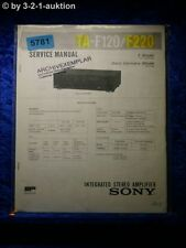 Sony Service Manual TA F120 /F220 Amplifier (#5781)
