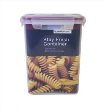 Clear Clip Lock Air Tight Food Storage Containers Stay Fresh Box Pasta 1.5litres