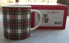 Set of FOUR Nikko Tartan Christmas Plaid Coffee Mugs New in Box