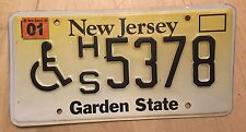 """NEW JERSEY HANDICAPPED DISABLED PERSON LICENSE PLATE  """" HS 5378 """" WHEELCHAIR"""