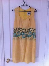 Barbeau, size m, Montreal designer dress yellow