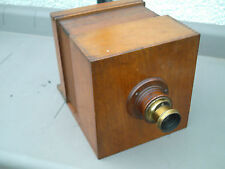 VERY RARE ANTIQUE LARGE WOODEN SLIDING BOX DAGUERREOTYPE ? CAMERA