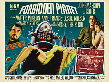 "Forbidden Planet 1956 16"" x 12"" Reproduction Movie Poster Photograph"