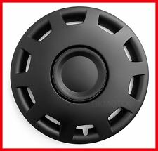 "14"" Copricerchi per VW VOLKSWAGEN POLO GOLF LUPO FOX Nero Full Set 4 x 14"""